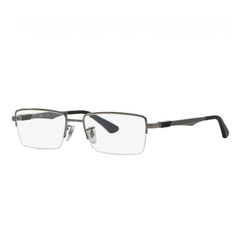 Ray-Ban Eyeglass RB 6263 2502 Rx Rectangular Style Gunmental Optical Frame with Demo Lens