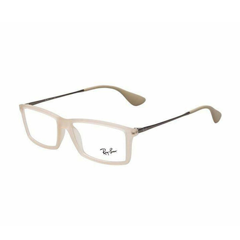 Ray-Ban Eyeglass - Rectangular Style Men beige Rubber Color Eyeglass RB7021-5369