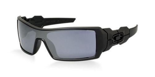 Oakley Sunglass Men's Oil Rig Polished Matte Black Full-Rim Frame with Grey Lens - OO9081 03-464
