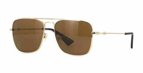 Gucci Sunglasses Square Style Brown Lens.