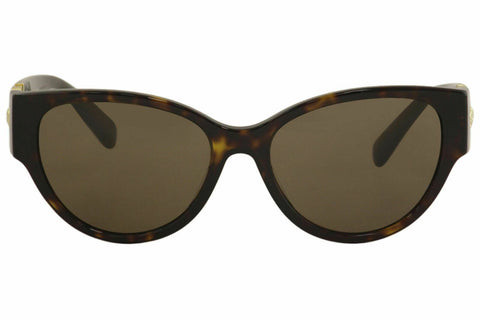 Versace Women's VE4368 VE/4368 108/73 Havana/Gold Medusa Cat Eye Sunglasses 56mm