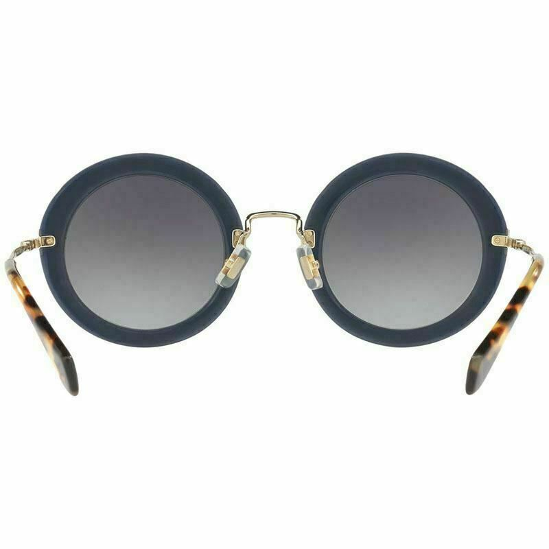 Miu Miu Women's Sunglasses Round Style Blue w/Grey Gradient MU08RS VIG5D1 49