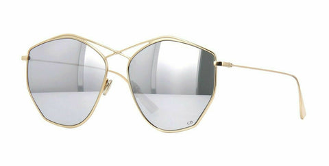 Christian Dior Sunglass - Geometric Style Metal Frame with Gray/Silver Mirrored Lens - STELLAIRE 4 J5G/DC A