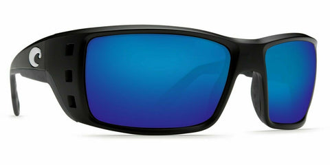 Costa Permit Sunglasses - Polarized - Matte Black Frame w/ Blue Mirror 580G Lens