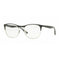 Ray-Ban Eyeglass Square Style Silver / Black Frame Color Demo Lens- RX6412 2861 50