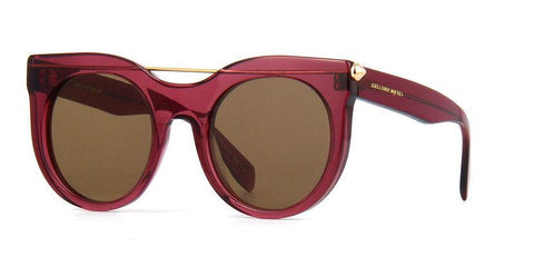 Alexander McQueen AM0001S 004 Women Sunglasses Red Frame Brown Lens