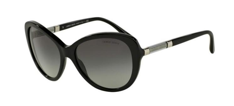 Giorgio Armani Sunglass - Cat Eye Style Black Color Sunglass AR8052-501711 57MM