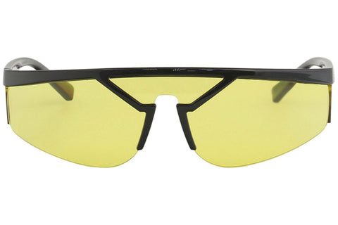 Versace Sunglasses Shield Frame Yellow Lens Men Glasses