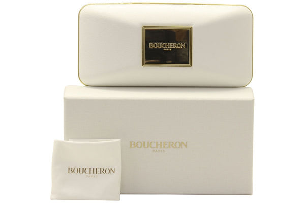 Boucheron Sunglass - Square Shape Gold / Silver Color Sunglass BC0015 S- 006 47MM