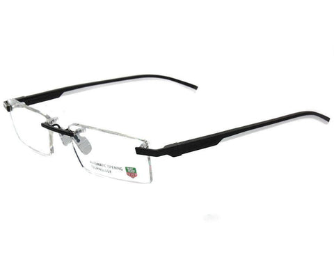 Tag Heuer TH0843 011 Silver Black Size 53mm Optical Eyeglasses