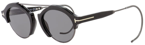 Tom Ford Oval Sunglasses TF631 Farrah-02 01A Black/Gunmetal 49mm FT0631