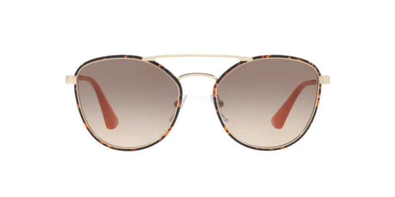 Prada Sunglass - PR63TS 2AU3D0 55 - Oval Shape Brown Lens Women Sunglass