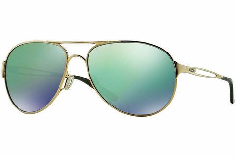 Authentic Oakley Caveat OO4054 15 Sunglasses Gold / Jade Iridium *NEW* 60mm
