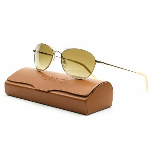 Oliver Peoples Sunglass Aviator Style Gold Color Chrome Polarized Lens | Aero OV1005S 5035N
