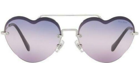 Miu Miu FOREVER IN LOVE MU62US 1BC157 58  Silver/Pink Blue Shaded  Sunglasses