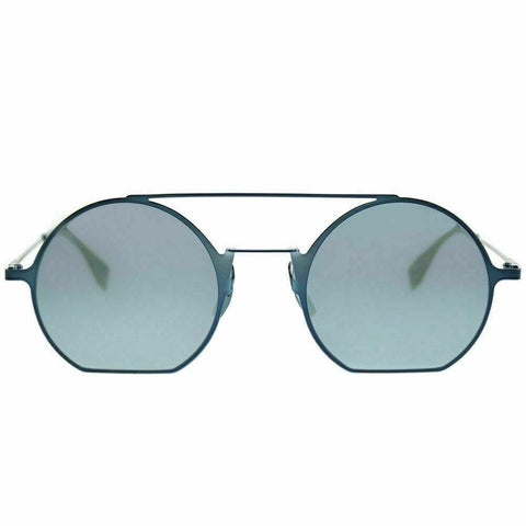 Fendi Sunglass Eyeline Round Style FF 0291/S PJP 3J Blue Color | Blue mirrored lens