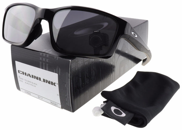 Oakley OO9252-01 Chainlink Sunglasses Polished Black w/Black Iridium Asia Fit