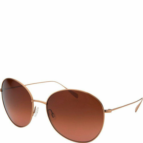 Oliver Peoples Blondell Gold Titanium Rose Gold Brown Polarized Round OV 1102ST