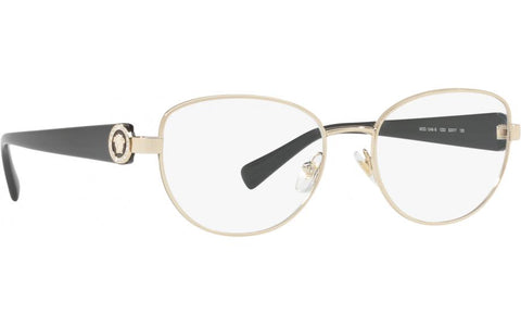 Versace Crystal Ring VE1246B 1332 52 Pale Gold Black OpticalEyeglasses