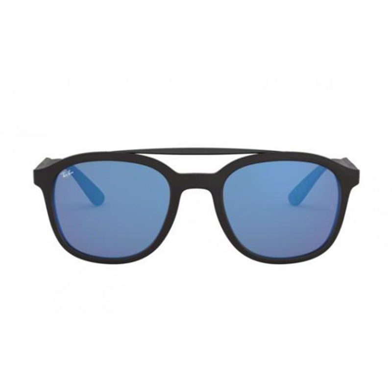New Ray Ban RB4290 601/S55 53 Sunglasses Matte Black w/ Blue Flash 53mm Lenses