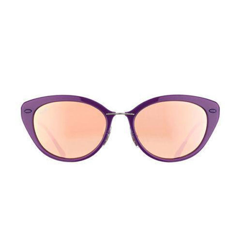 Ray-Ban Sunglass - LightRay Titanium Cat Eye RB4250-60342Y Violet Copper Mirror Lens