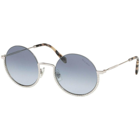 Miu Miu MU69US 1BC4R2 52 Silver/Blue Shaded (1BC-4R2) Sunglasses