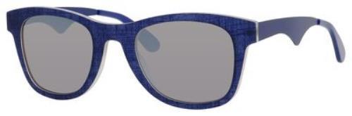 Carrera Square Style Sunglasses Having Blue Frame With Grey Mirrored Lens