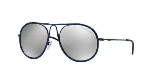 Emporio Armani Sunglass - Aviator Shape Blue Color Sunglass EA2034 30196G 54MM
