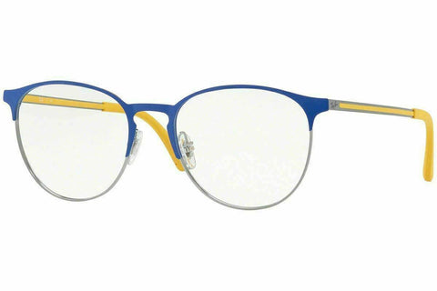 Ray Ban Designer Reading Glasses RX6375 2950 51 in Gunmetal/Blue Yellow 51mm