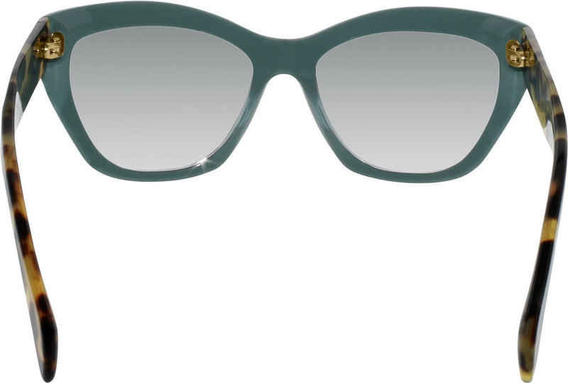 New Genuine Prada PR02QS TFO1E0 POEME Women Sunglasses Green 56-17-140 Fast Ship