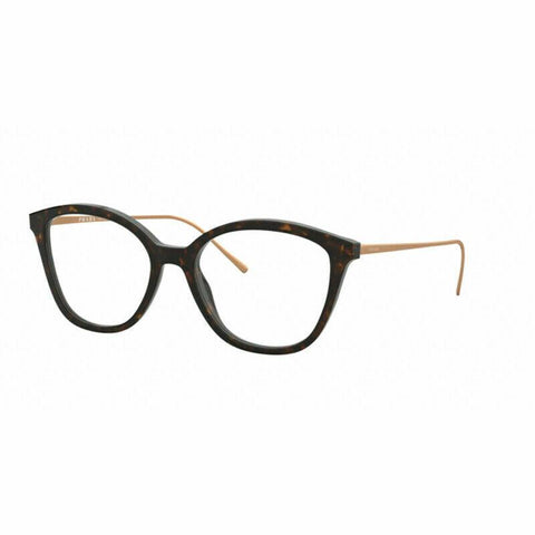 Prada Cat Eye Style Havana Eyeglasses W/Demo Lens