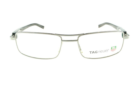 Tag Heuer Eyeglasses TH8001 003 52MM Silver / Black Optical Frame