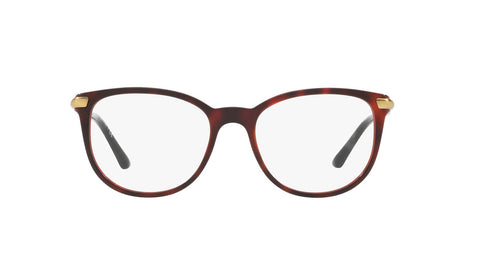 Burberry BE2255Q 3657 53 Top Havana On Bordeaux Demo Lens Women's Eyeglasses