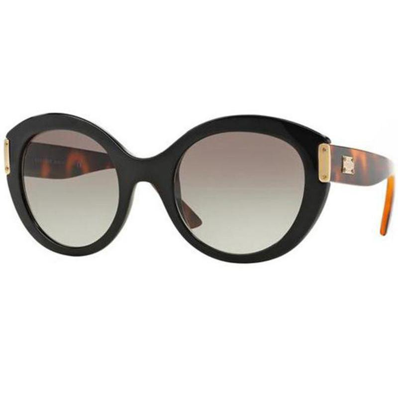 Versace Sunglasses Oval Frame Grey Gradient Lens