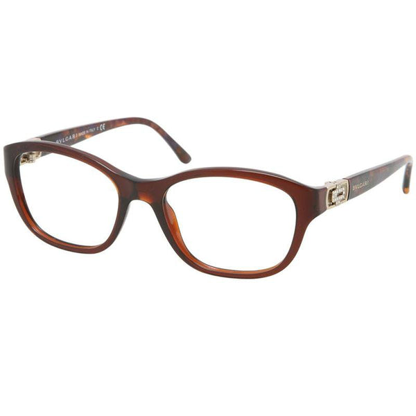 Bvlgari Eyeglasses Square Frame with Demo Lens 53 mm