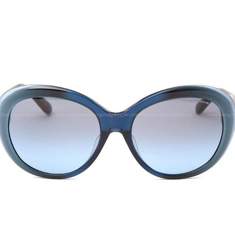 Coach Women Sunglasses HC8259F 55338F 56 Blue Laminate