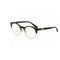Versace Eyeglass Round Style Demo Lens - Women Eyeglass Black Gold Frame VE3233B GB1 49