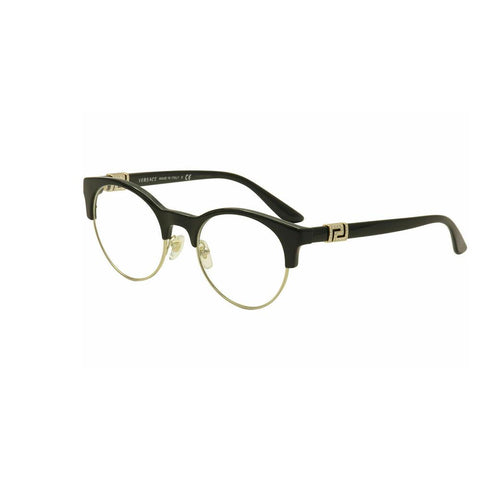 Versace Eyeglasses VE 3233/B 3233B GB1 Black/Gold Full Rim Optical Frame 49mm