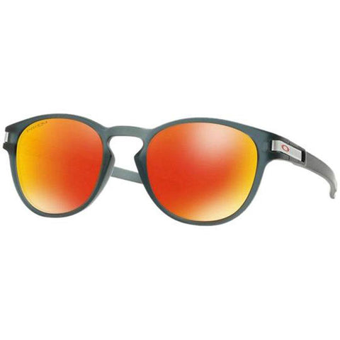 Oakley Latch Grid Collect Matte Crystal Black Prizm Ruby Sunglasses OO9265-4153