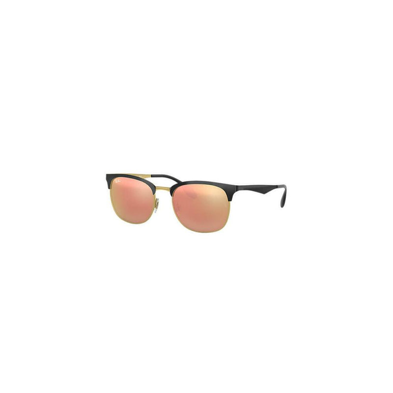 Ray Ban Sunglasses Clubmaster RB3538 187/2Y Black Gold Copper Mirror Lens 53MM
