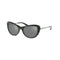 Coach Sunglass Cat Eye Style Gunmetal Mirror Lens | Gunmetal Sig C Frame HC 8247 (L1039) 55206G 53mm