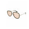 Gucci Sunglass - GG0062S 009 57MM Aviator Style Havana Silver Color Women Sunglass