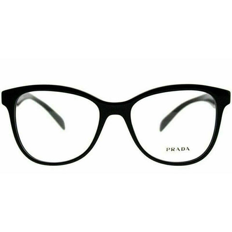 Prada PR12TV 1AB1O1 53 Polished Black / Demonstration Lens 53mm Eyeglasses
