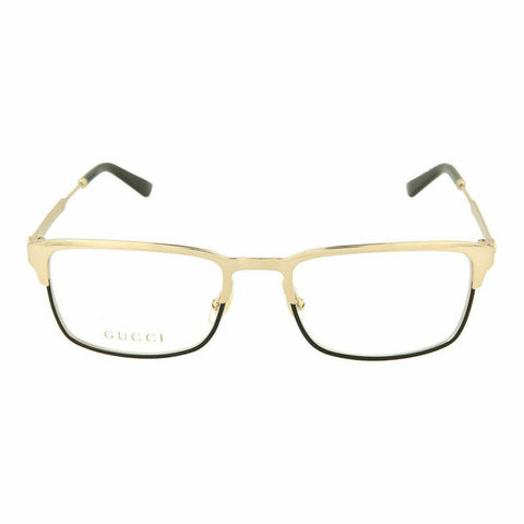 Gucci Rectangular Style Light Gold Eyeglasses W/Demo Lens