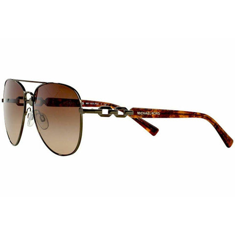 Michael Kors Aviator Style Sunglasses W/Brown Gradient Lens