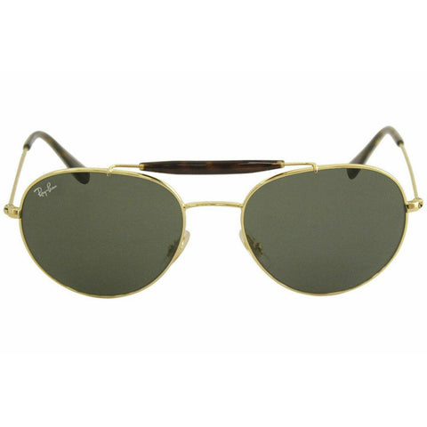 Ray Ban Pilot Style Sunglasses W/Green Gradient Lens