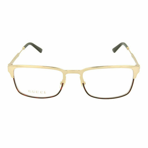Gucci Square Style Gold Eyeglasses W/Demo Lens