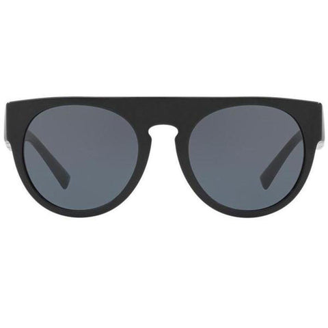 Versace Sunglasses Unisex Round Frame Gray Lens - Front View