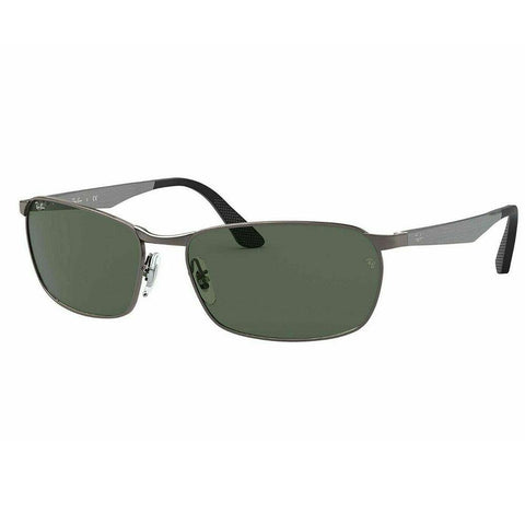 Ray-Ban Rectangular Style Sunglasses W/Green Lens