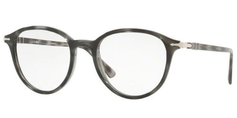 Persol Men Round Eyeglasses PO3169V 1053 Smoke Havana Frame Demo Customized Lens